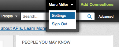 LinkedIn Profile Settings